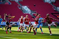 12th September 2020; Ashton Gate Stadium, Bristol, England; English Football League Championship Football, Bristol City versus Coventry City; Daniel Bentley of Bristol City stops a short range shot