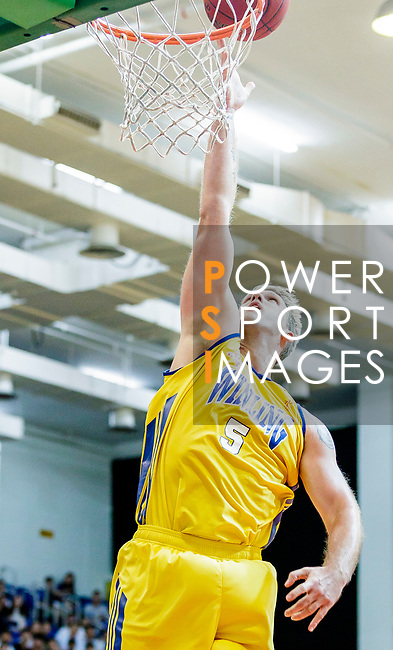 Hosford Ian Daniel #5 of Winling Basketball Club tries to score during the Hong Kong Basketball League game between Winling and Fukien at Southorn Stadium on May 29, 2018 in Hong Kong. Photo by Yu Chun Christopher Wong / Power Sport Images