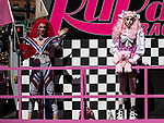 © Joel Goodman - 07973 332324 - all rights reserved. 24/08/2019. Manchester, UK. RuPaul's Drag Race UK float . Manchester Gay Pride parade through the city centre . Manchester's Gay Pride festival , which is the largest of its type in Europe , celebrates LGBTQ+ life . Photo credit : Joel Goodman
