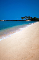 White sand beach on the Big Island of Hawaii. Kona Coast State Park,Hawaii.