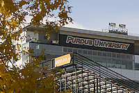 A view of the Purdue University football pressbox before the game. The Michigan Wolverines defeated the Purdue Boilermakers 44-13 on October 6, 2012 at Ross-Ade Stadium in West Lafayette, Indiana.
