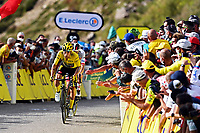 11th September 2020; Chatel-Guyon to Puy Marie Cantal, France;   ROGLIC Primoz (SLO) of TEAM JUMBO - VISMA during stage 13 of the 107th edition of the 2020 Tour de France cycling race, a stage of 191,5 km with start in Chatel-Guyon and finish in Puy Marie Cantal on September 11, 2020