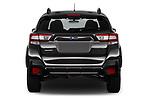 Straight rear view of a 2018 Subaru Crosstrek 4wd 5 Door SUV stock images