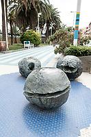 Seaside Promenade Albissola, Sculptures by Lucio Fontana