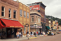 Deadwood, SD, Black Hills, South Dakota, Shops along the main street in downtown Deadwood a National Historic Landmark.