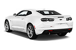 Car pictures of rear three quarter view of a 2019 Chevrolet Camaro 1LT 2 Door Coupe angular rear