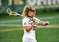 17 April 2021: University of Vermont Catamount Attacker Taylor Mullen, a Junior from Delray Beach, FL, in action against the UMBC Retrievers at Virtue Field in Burlington, Vermont. The Lady Cats fell to the Retrievers 11-8 in the America East Women's Lacrosse matchup. Mandatory Credit: Ed Wolfstein Photo *** RAW (NEF) Image File Available ***