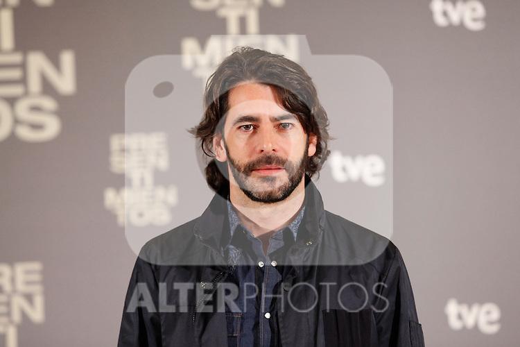 Spanish actor Eduardo Noriega attends the 'Presentimientos' photocall at the Princesa cinema. January 21, 2014. (ALTERPHOTOS/Victor Blanco)