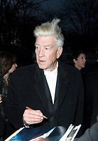 November 9 2017, PARIS FRANCE<br /> David Lynch, American director and photographer is Guest of Honor of Paris Photo 2017 at the Grand Palais on Avenue du GÈnÈral Eisenhower. He signs autographs for his fans.