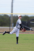Keegan Allen (13) of Bentonville, Arkansas during the Baseball Factory All-America Pre-Season Rookie Tournament, powered by Under Armour, on January 13, 2018 at Lake Myrtle Sports Complex in Auburndale, Florida.  (Michael Johnson/Four Seam Images)