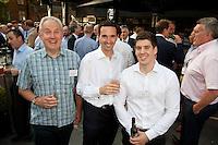 Summer drinks for Simon Birmingham of Deloitte, Simon White of PWC and Rob Luff from Deloitte