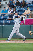 Ryan Garvey #10 of the Tri-City Dust Devils at bat during a game against the Everett AquaSox at Everett Memorial Stadium in Everett, Washington on July 28, 2014. Tri-City defeated Everett 6-5 in 11 innings.  (Ronnie Allen/Four Seam Images)