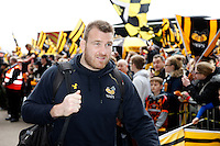 Photo: Richard Lane/Richard Lane Photography. Wasps v Exeter Chiefs.  European Rugby Champions Cup Quarter Final. 09/04/2016. Wasps' Lorenzo Cittadini arrives at the Ricoh Arena.
