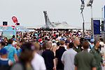 Pix: Shaun Flannery/shaunflanneryphotography.com...COPYRIGHT PICTURE>>SHAUN FLANNERY>01302-570814>>07778315553>>..2nd July 2011....................RAF Waddington International Airshow..The crowds flock towards Vulcan XH558