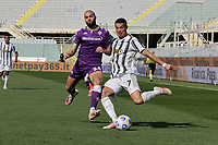 Cristiano Ronaldo of Juventus  and Amrabat<br />  during the  italian serie a soccer match,Fiorentina - Juventus at  theStadio Franchi in  Florence Italy ,