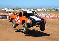 Apr 15, 2011; Surprise, AZ USA; LOORRS driver Myan Spaccarelli (12) during round 3 and 4 at Speedworld Off Road Park. Mandatory Credit: Mark J. Rebilas-.