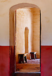 Arched Doors at La Purisma Concepcion, Lompoc, California
