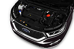 Car stock 2017 Ford Edge Vignale base 5 Door SUV engine high angle detail view
