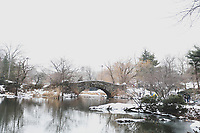 NOVA YORK (EUA) 12/02/2019 - CLIMA-EUA - Movimentação no Central Park em Nova York nos Estados Unidos nesta terça-feira, 12. Uma tempestade de neve atinge a cidade. (Foto: William Volcov/Brazil Photo Press)