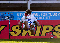 26th March 2021; Kingsholm Stadium, Gloucester, Gloucestershire, England; English Premiership Rugby, Gloucester versus Exeter Chiefs; Josh Hodge of Exeter Chiefs scores a try
