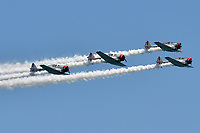 FORT LAUDERDALE, FL - MAY 06: GEICO Skytypers performs in the Ford Lauderdale Air Show on May 6, 2017 in Fort Lauderdale, Florida<br /> <br /> <br /> People:  GEICO Skytypers