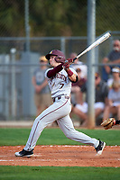 Minnesota Golden Gophers third baseman Jordan Kozicky (7) at bat during a game against the Boston College Eagles on February 23, 2018 at North Charlotte Regional Park in Port Charlotte, Florida.  Minnesota defeated Boston College 14-1.  (Mike Janes/Four Seam Images)