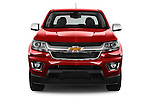 Car photography straight front view of a 2017 Chevrolet Colorado LT Crew Cab Long Box 4 Door Truck Front View