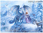 Liz,REALISTIC ANIMALS,dragon,princess,fantasy, REALISTISCHE TIERE, ANIMALES REALISTICOS, LizDillon, paintings+++++,USHCLD0241A,#A#, EVERYDAY