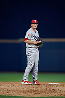 Reading Fightin Phils pitcher Garrett Cleavinger (37) during an Eastern League game against the Akron RubberDucks on June 4, 2019 at Canal Park in Akron, Ohio.  Akron defeated Reading 8-5.  (Mike Janes/Four Seam Images)