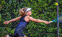 Hilversum, Netherlands, August 5, 2021, Tulip Tennis center, National Junior Tennis Championships 16 and 18 years, NJK, Isis van den Broek (NED) girls single 16 years.<br /> Photo: Tennisimages/Henk Koster