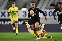22nd May 2021; Eden Park, Auckland New Zealand; All Blacks Sevens versus Australia, Trans-Tasman Sevens;  Andrew Knewstubb (nzl) on open field run