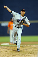 July 15, 2009:  Pitcher Jeanmar Gomez of the Akron Aeros during the 2009 Eastern League All-Star game at Mercer County Waterfront Park in Trenton, NJ.  Photo By David Schofield/Four Seam Images