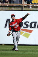 Outfielder Max Kepler (67) of the Minnesota Twins during a spring training game against the Tampa Bay Rays on March 2, 2014 at Charlotte Sports Park in Port Charlotte, Florida.  Tampa Bay defeated Minnesota 6-3.  (Mike Janes/Four Seam Images)