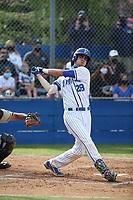 Marcelo Mayer (28) of the Eastlake High School Titans bats against Westview High School Wolverines at Eastlake High School on April 7, 2021 in Chula Vista, California. (Larry Goren/Four Seam Images)