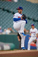 Buffalo Bisons pitcher Thomas Pannone (47) during an International League game against the Rochester Red Wings on August 26, 2019 at Sahlen Field in Buffalo, New York.  Buffalo defeated Rochester 5-4.  (Mike Janes/Four Seam Images)