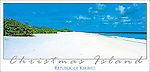 KKF04 A perfect sandy beach on Christmas Island, Kiribati