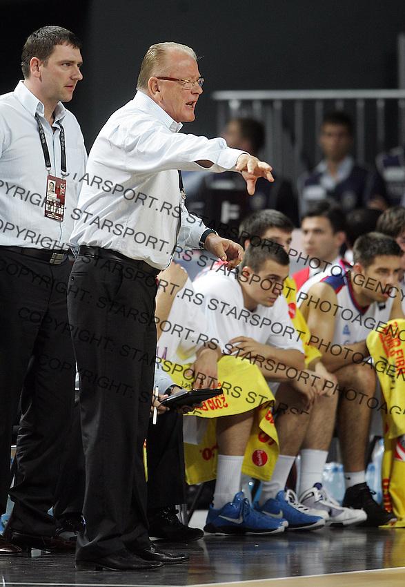 Dusan IVKOVIC (Serbia) head coach, reacts during the semi-final World championship basketball match against Turkey in Istanbul, Serbia-Turkey, Turkey on Saturday, Sep. 11, 2010. (Novak Djurovic/Starsportphoto.com) .