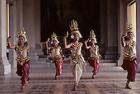 APSAR DANCE,Images from the Book Journey Through Colour and Time, a traditional APSARA dancer in he Grand palace performing at the Royal performance Hall in Phnom Penh,Cambodia