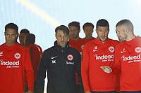 Deji Beyreuther (Eintracht Frankfurt), Trainer Niko Kovac (Eintracht Frankfurt), Slobodan Medojevic (Eintracht Frankfurt), Ante Rebic (Eintracht Frankfurt) kommen zum Training - 17.10.2017: Eintracht Frankfurt Training, Commerzbank Arena