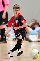 Paddy Moore of Selwyn College during the Futsal NZ Secondary Schools Junior Boys Final between Hamilton Boys High School and Selwyn College at ASB Sports Centre, Wellington on 26 March 2021.<br /> Copyright photo: Masanori Udagawa /  www.photosport.nz