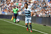 ST. PAUL, MN - AUGUST 21: Luis Martins #36 of Sporting Kansas City with the ball during a game between Sporting Kansas City and Minnesota United FC at Allianz Field on August 21, 2021 in St. Paul, Minnesota.