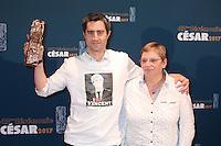 """FRANCOIS RUFFIN, CESAR DU MEILLEUR FILM DOCUMENTAIRE POUR LE FILM """"MERCI PATRON"""" - 42EME CEREMONIE DES CESAR LE 24 FEVRIER 2017 A LA SALLE PLEYEL"""