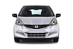 Car photography straight front view of a 2014 Honda Jazz s 5 Door Hatchback 2WD Front View