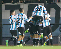 AVELLANEDA - ARGENTINA - 29 - 06 - 2017: Los jugadores de Racing Club, celebran el gol anotado a Deportivo Independiente Medellin de Colombia, durante partido entre Racing Club de Argentina y Deportivo Independiente Medellin de Colombia, por la segunda fase llave 1 por la Copa Conmebol Sudamericana 2017 en el estadio Juan Domingo Peron, de la ciudad de Avellaneda. / The players of Racing Club, celebrate a scored goal to Deportivo Independiente Medellin of Colombia, during a match between Racing Club of Argentina and Deportivo Independiente Medellin of Colombia of the second phase, key 1 for the Copa Conmebol Sudamericana 2017, at the Juan Domingo Peron Stadium in Avellaneda city. Photo: VizzorImage / Javier Garcia Martino / Photogamma / Cont.