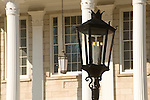 Tioga County Court House. Wellsboro, PA. Gas street light.
