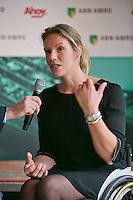 09-01-14, Netherlands, Rotterdam, TC Kralingen, ABNAMROWTT Press-conference,Tournament director wheelchair tennis Ester Vergeer.<br /> Photo: Henk Koster