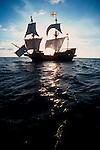 Exploration, Sir Francis Drake's 1580's historic replica sailing ship the Golden Hind