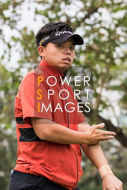 Chien-Yao Hung of Taiwan reacts during the day four of UBS Hong Kong Open 2017 at the Hong Kong Golf Club on 26 November 2017, in Hong Kong, Hong Kong. Photo by Yu Chun Christopher Wong / Power Sport Images