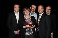 Montreal (QC) CANADA - May 18  2011  Gala NUMIX :  Gagnant <br /> Production Corporative - Section EvÈnementielle :<br /> Responding Now - Idee au Cube : <br /> Jean-Marie Bioteau, Benoit Martel, Nathalie Gelinas, RenÈ Lepire, Yanik Deschenes, PrÈsident.