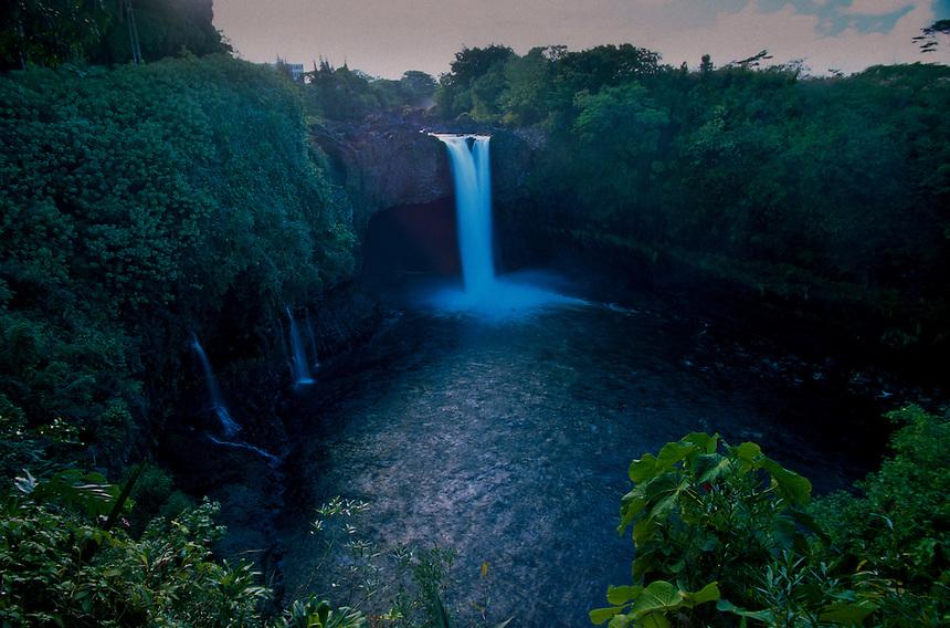 Rainbow Falls, Big Island, Hawaii, US